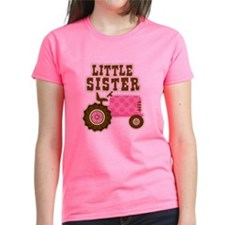 Pink Tractor Little Sister Tee