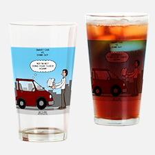 Smart Car vs Dumb Guy Drinking Glass