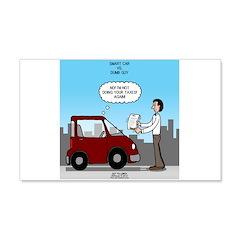 Smart Car vs Dumb Guy Wall Decal