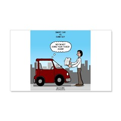 Smart Car vs Dumb Guy Wall Decal