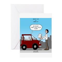 Smart Car vs Dumb Guy Greeting Cards (Pk of 10)