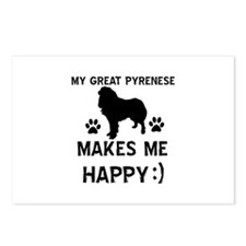 My Great Pyrenees dog makes me happy Postcards (Pa