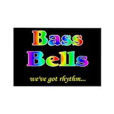 Bass Bells Black Rectangle Magnet (10 pack)