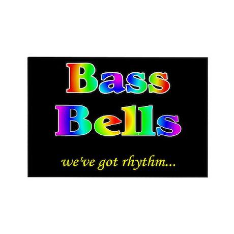 Bass Bells Black Rectangle Magnet (100 pack)