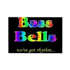 Bass Bells Black Rectangle Magnet