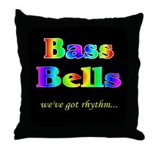Bass Bells Black Throw Pillow