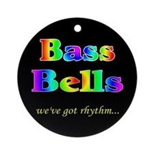 Bass Bells Black Ornament (Round)