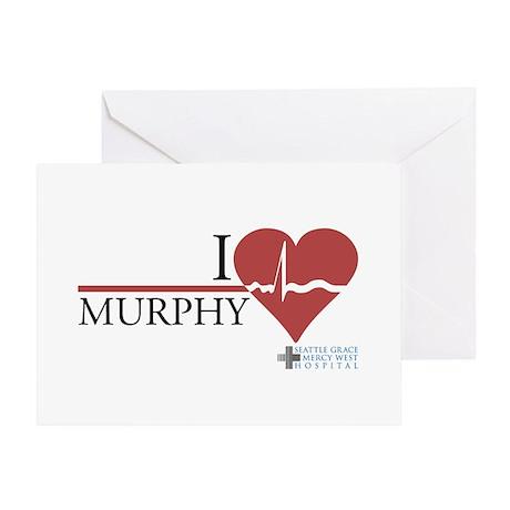 I Heart Murphy - Grey's Anatomy Greeting Card