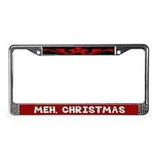 Meh Christmas License Plate Frame