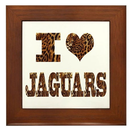 i love jaguars Framed Tile