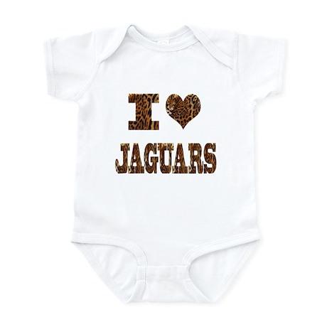 i love jaguars Infant Bodysuit