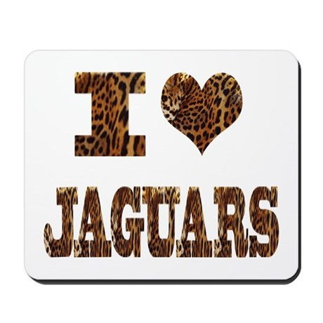 i love jaguars Mousepad
