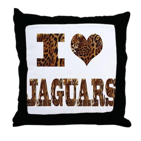 i love jaguars Throw Pillow