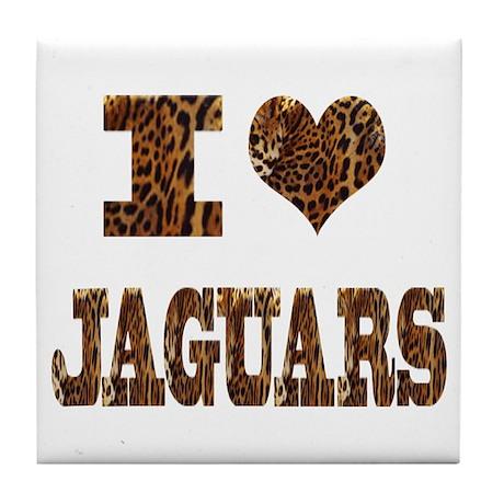 i love jaguars Tile Coaster