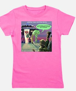 Spaced-Out Vegan Girl's Tee