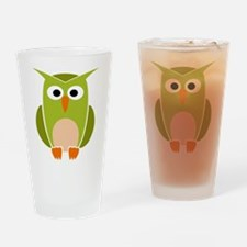 Funny Owl Drinking Glass
