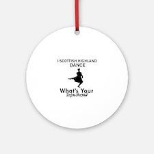 Scottish Highland is my Superpower Ornament (Round
