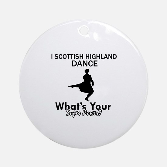 Scottish Highland is my Superpower Ornament (Round