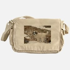 Great Pyrenees Puppy Messenger Bag