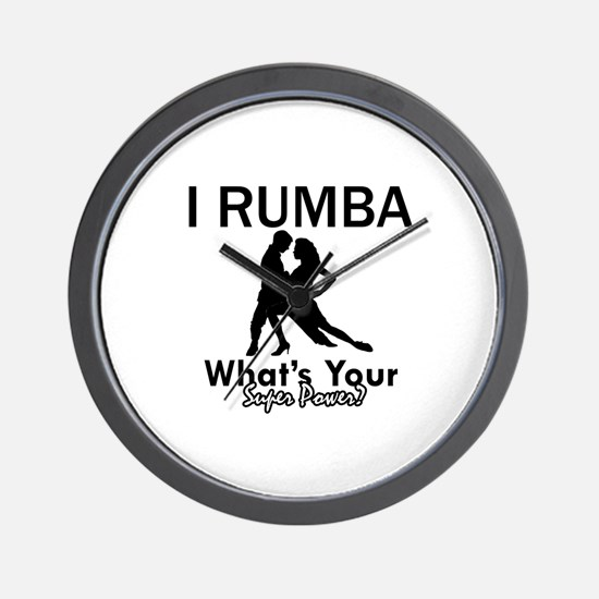 Rumba is my Superpower Wall Clock