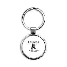 Rumba is my Superpower Round Keychain