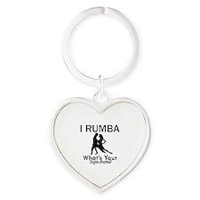 Rumba is my Superpower Heart Keychain