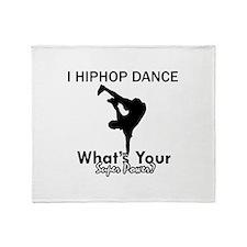 Hip Hop is my Superpower Throw Blanket