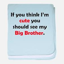 Cute Big Brother baby blanket