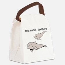Custom Beluga Whales Canvas Lunch Bag