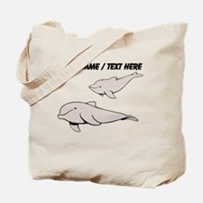 Custom Beluga Whales Tote Bag