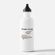 Custom Beluga Whales Water Bottle