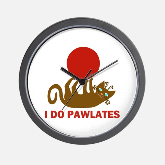 I Do Pawlates Cat and Exercise Humor Wall Clock