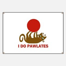 I Do Pawlates Cat and Exercise Humor Banner
