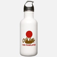I Do Pawlates Cat and Exercise Humor Water Bottle