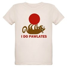 I Do Pawlates Cat and Exercise Humor T-Shirt