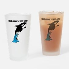 Custom Jumping Whale Drinking Glass