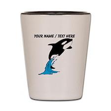 Custom Jumping Whale Shot Glass