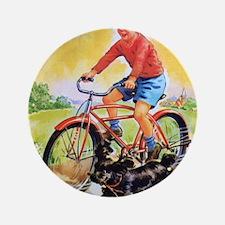 """Vintage Bike Boy 3.5"""" Button"""