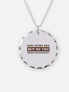 Cool Irish Step Dance designs Necklace Circle Char