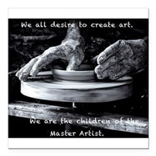 Children of the Master Artist Square Car Magnet 3""