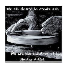 Children of the Master Artist Tile Coaster