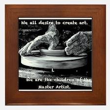 Children of the Master Artist Framed Tile
