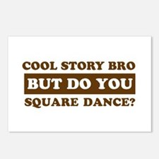 Cool Square Dance designs Postcards (Package of 8)