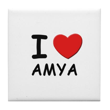I love Amya Tile Coaster