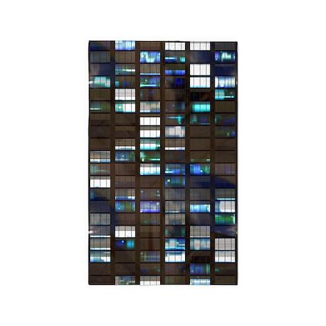Skyscraper by Night 3'x5' Area Rug