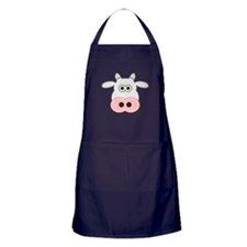 Cartoon Cow Face Apron (dark)