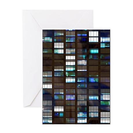 Skyscraper by Night Greeting Card