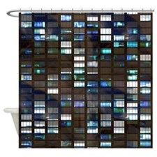 Skyscraper by Night Shower Curtain
