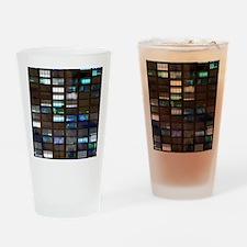 Skyscraper by Night Drinking Glass