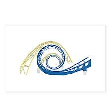 Roller Coaster Loop Postcards (Package of 8)